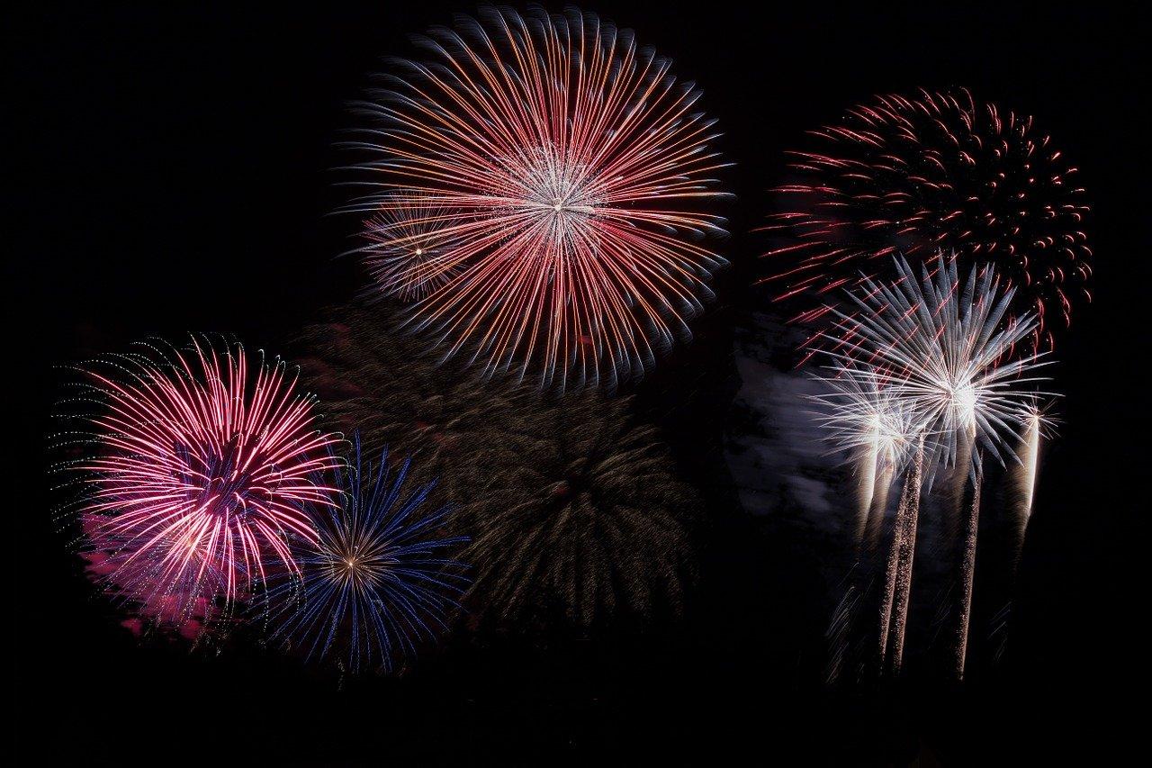 fireworks, sky, party